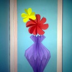 объемная открытка ваза