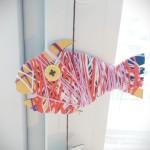рыбка из картона фото