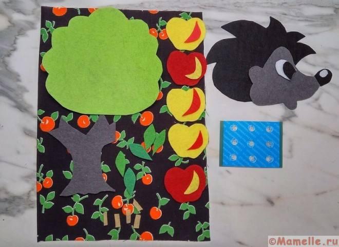 фрукты и ежик из ткани фото