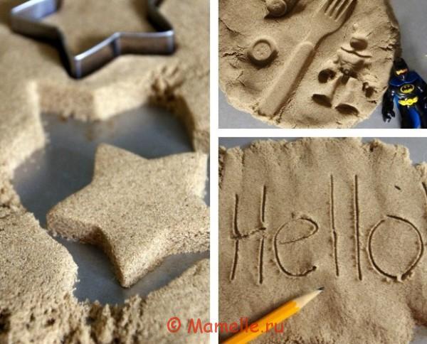 как играть с кинетическим песком