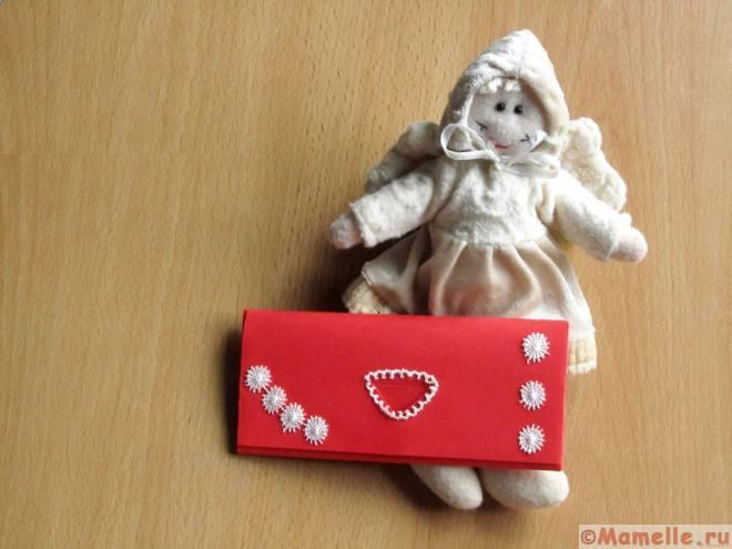 красный кошелек из бумаги фото
