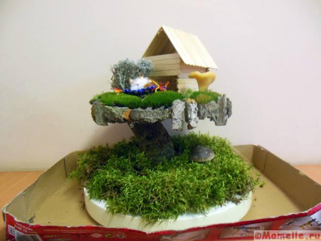 поделка домик на дереве фото
