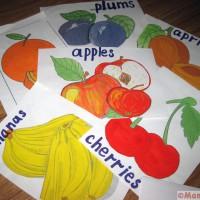 английские карточки фрукты