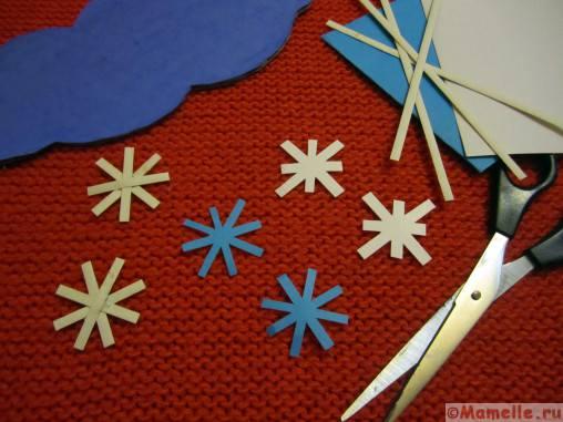 снежинки из бумаги фото