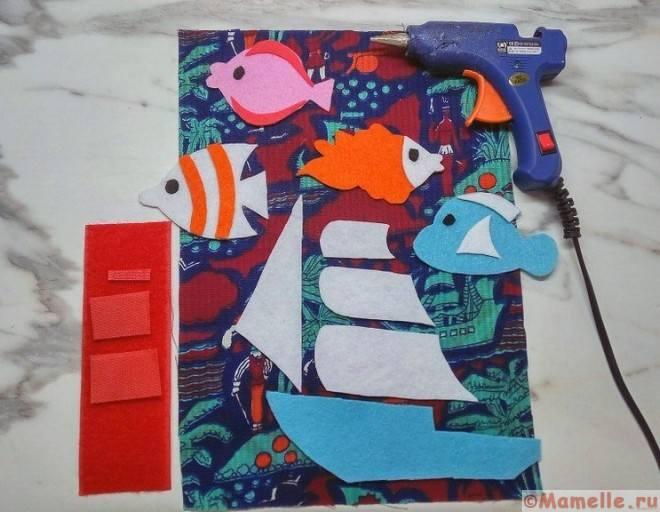 рыбки и корабль из фетра фото