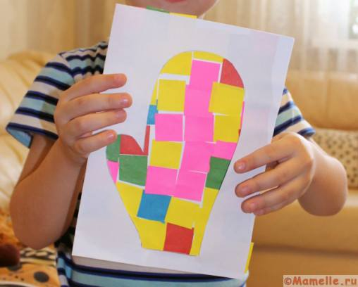 открытка поделка для детей