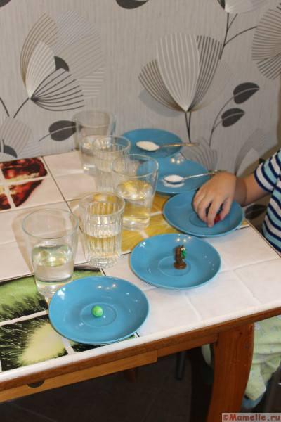 вода и сахар опыт для детей