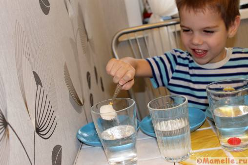 опыты с водой и стаканом