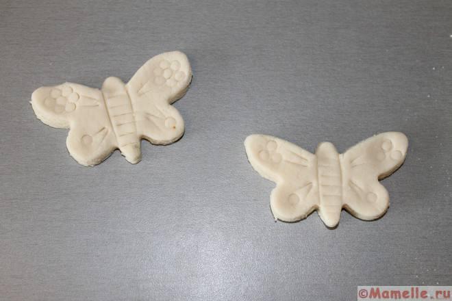 бабочки из соленого теста фото