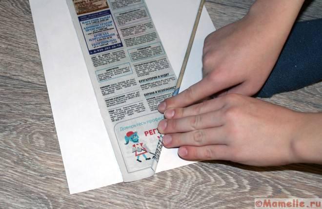 трубочки из газеты как делать