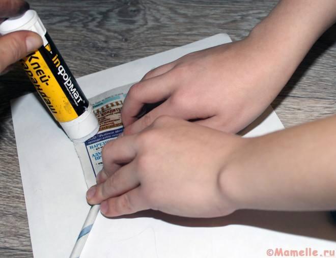 как сделать газетные трубочки пошагово