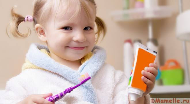 зубная паста для детей до года