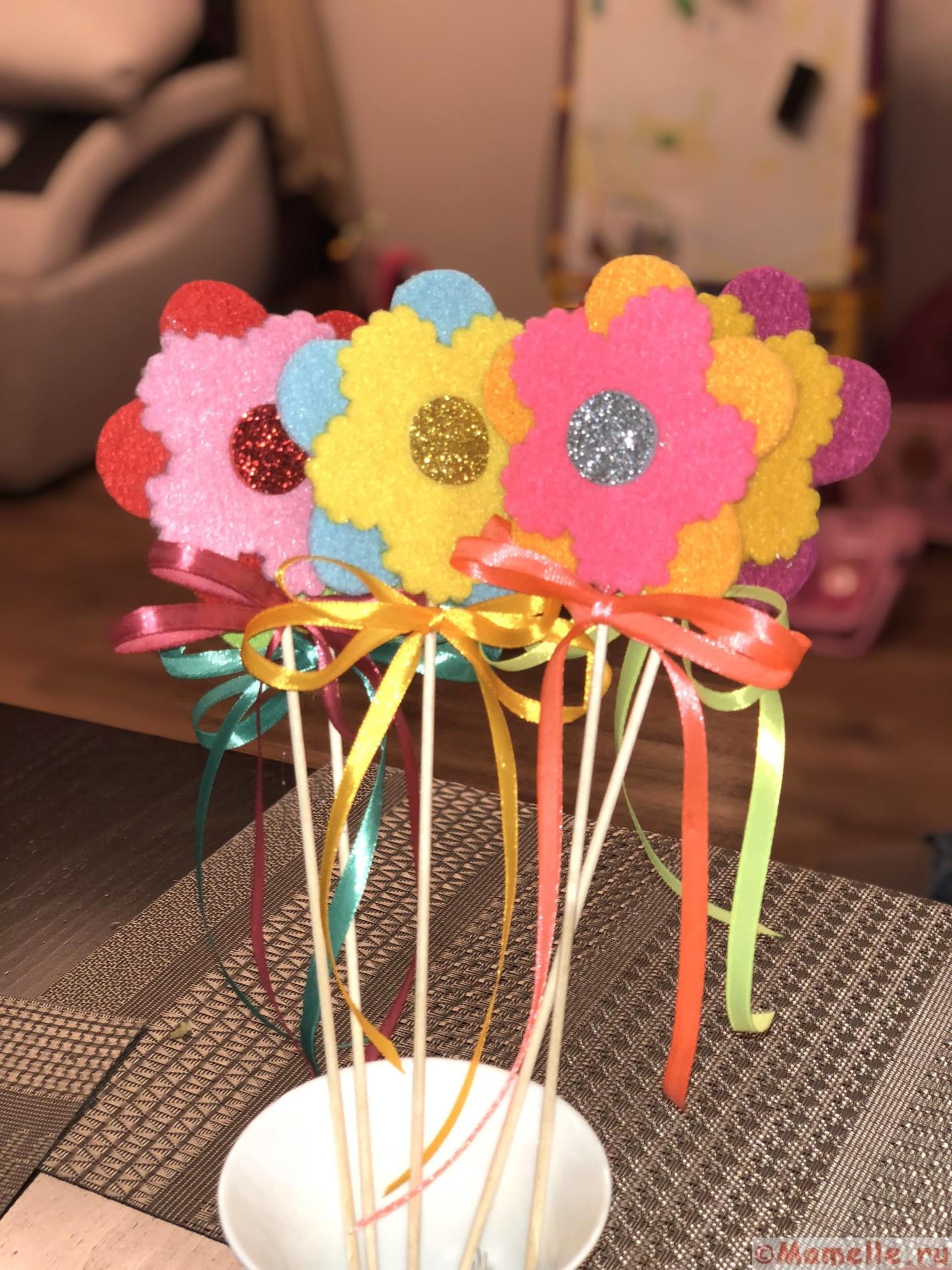 цветы  из фетра фото