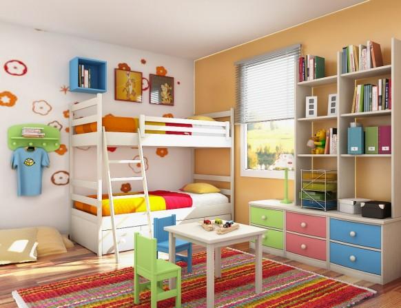 цветная мебель для детской фото