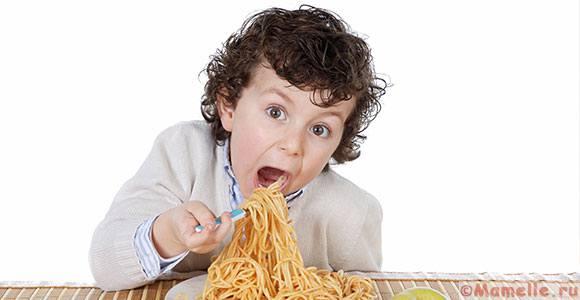 можно ли ребенку макароны
