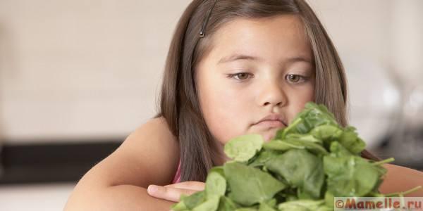 ребенок не ест овощи что делать