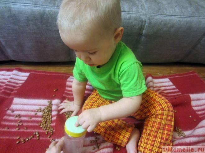 сенсорные игры с фасолью фото