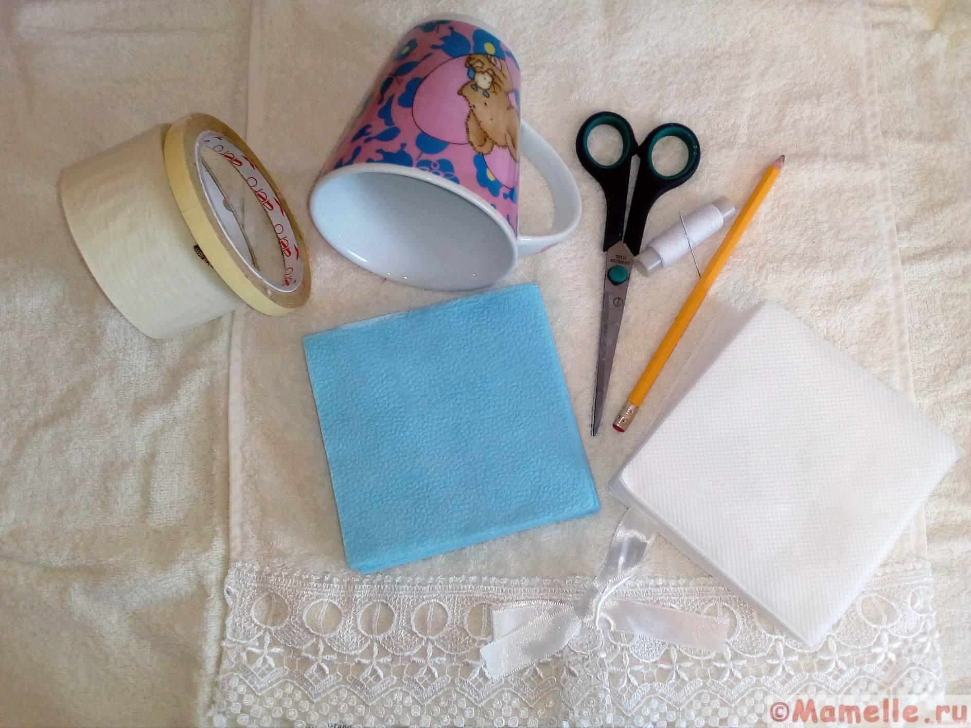 как делать помпоны из салфеток пошагово фото