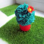 кактус из гофрированной бумаги фото