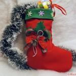 мастер класс новогодний носок