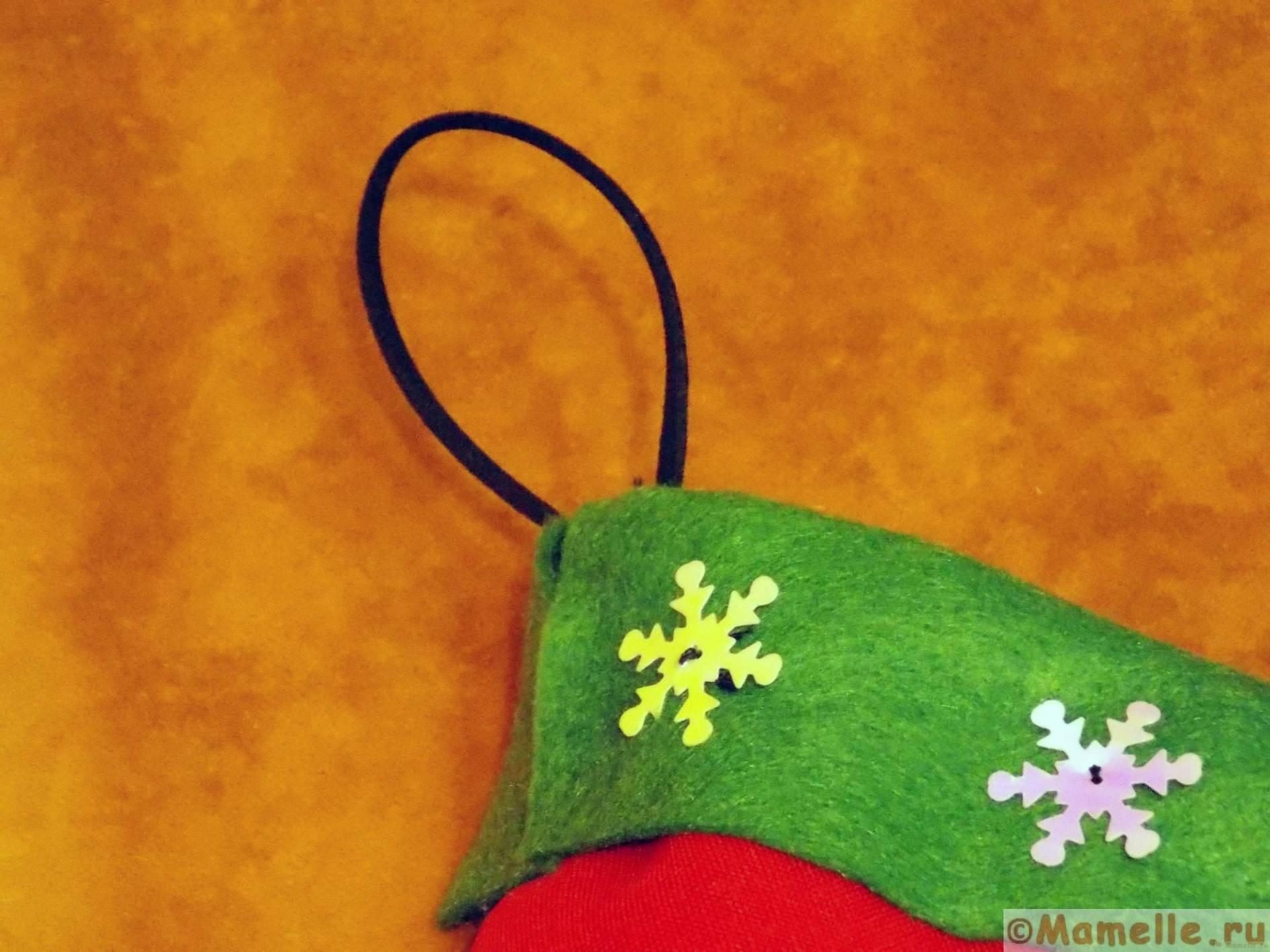 как повесить рождественский носок