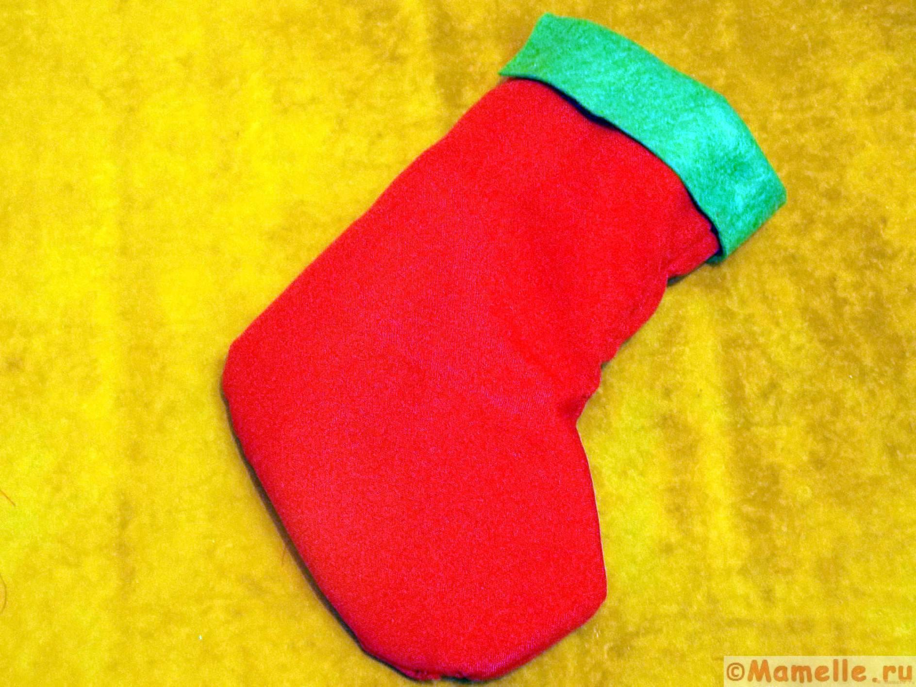 рождественский носок из фетра сшить