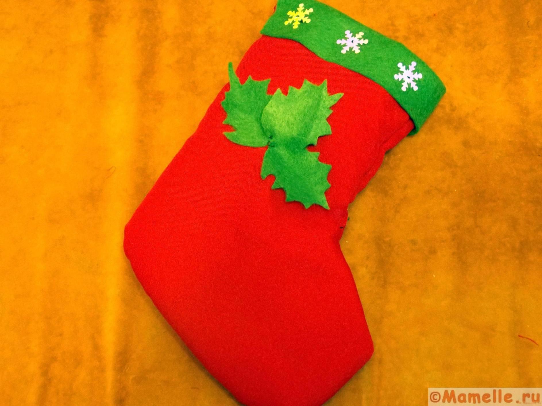 украшение носка для подарков