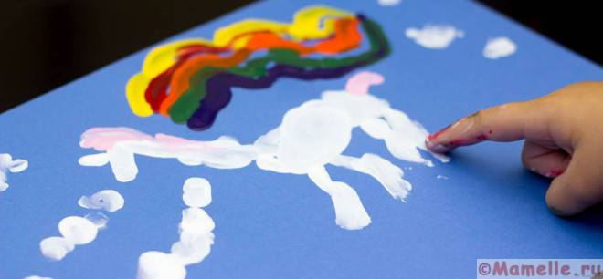 картинки пальчиковыми красками
